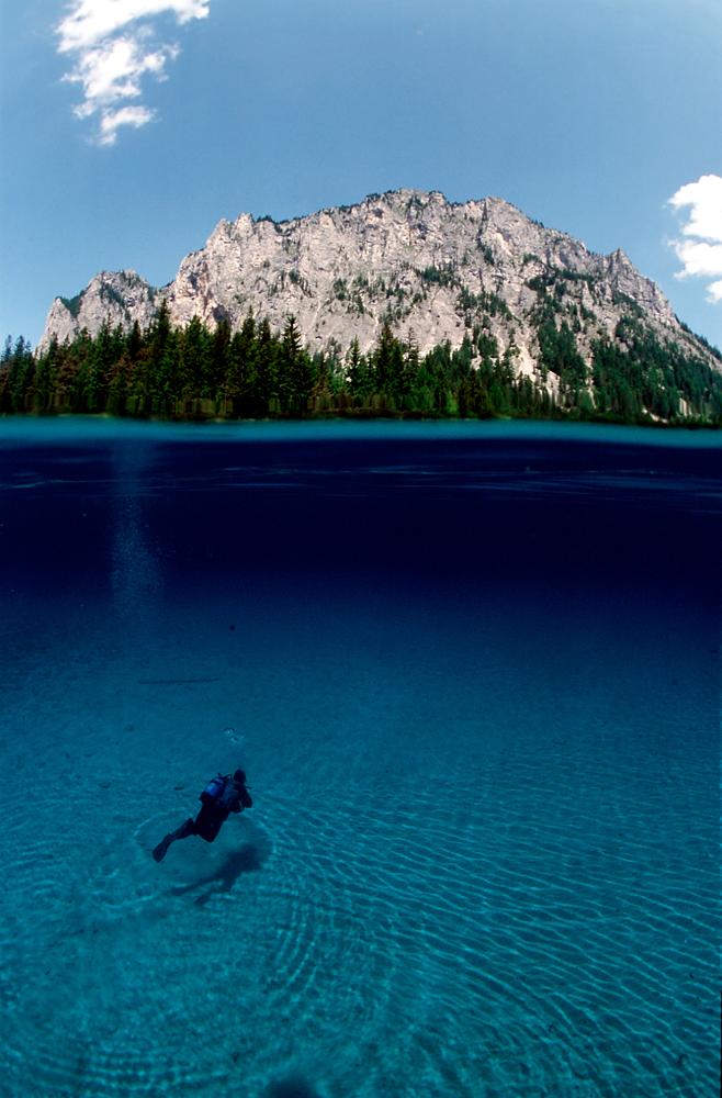 Gruener See, Halb und Halb