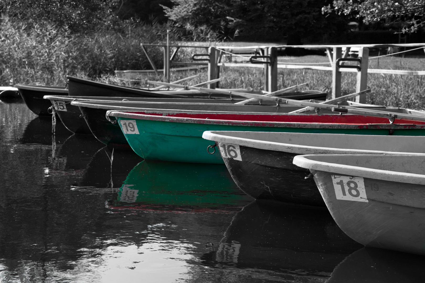 grünes Boot