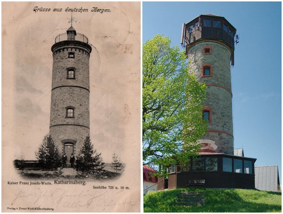 """""""Grüße aus Deutschen Bergen"""" Katharinaberg in Böhmen 1900 und Heute"""