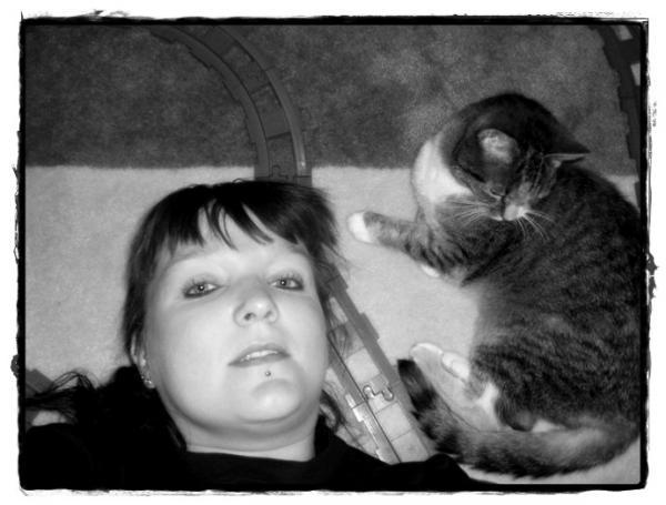 Gruftina mit ihrem Tiger