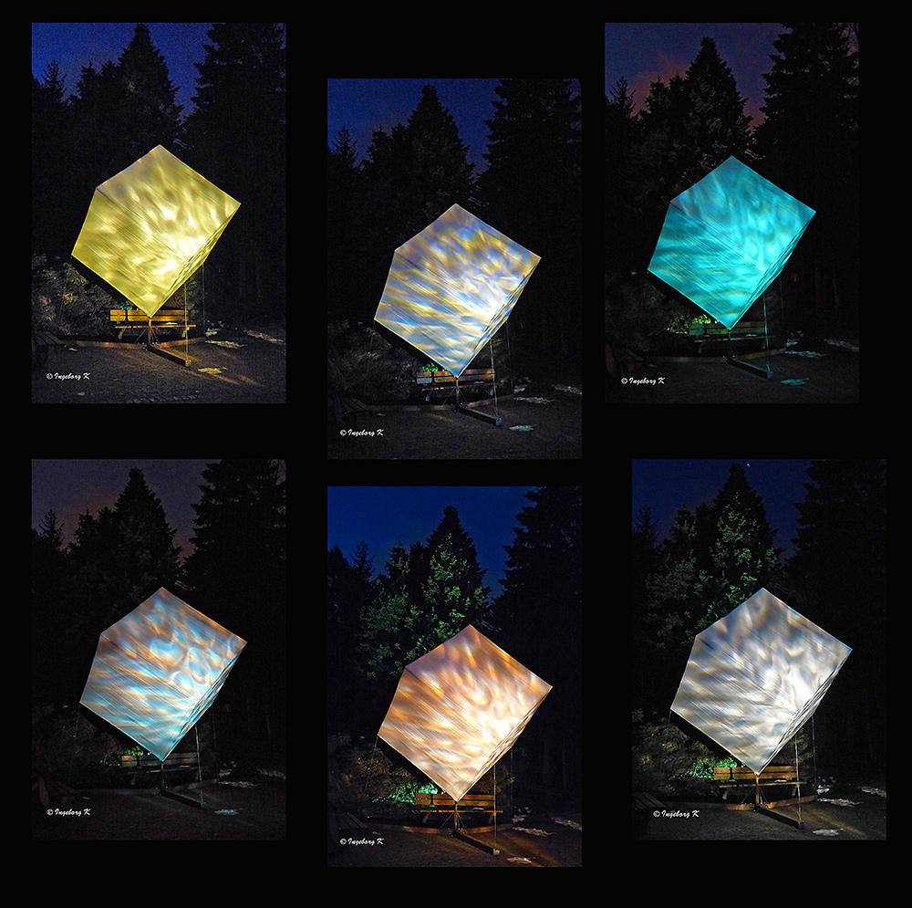 Grugapark - Lichterwochen - Lichtspiele im Würfel