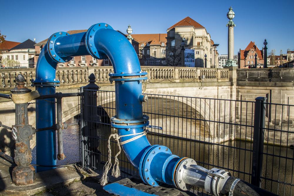Grundwasserleitung in Berlin
