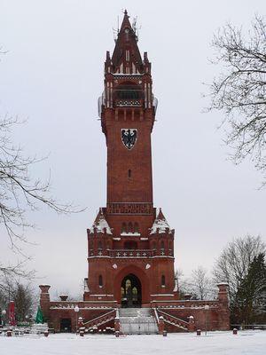 Grunewaldturm im Schnee