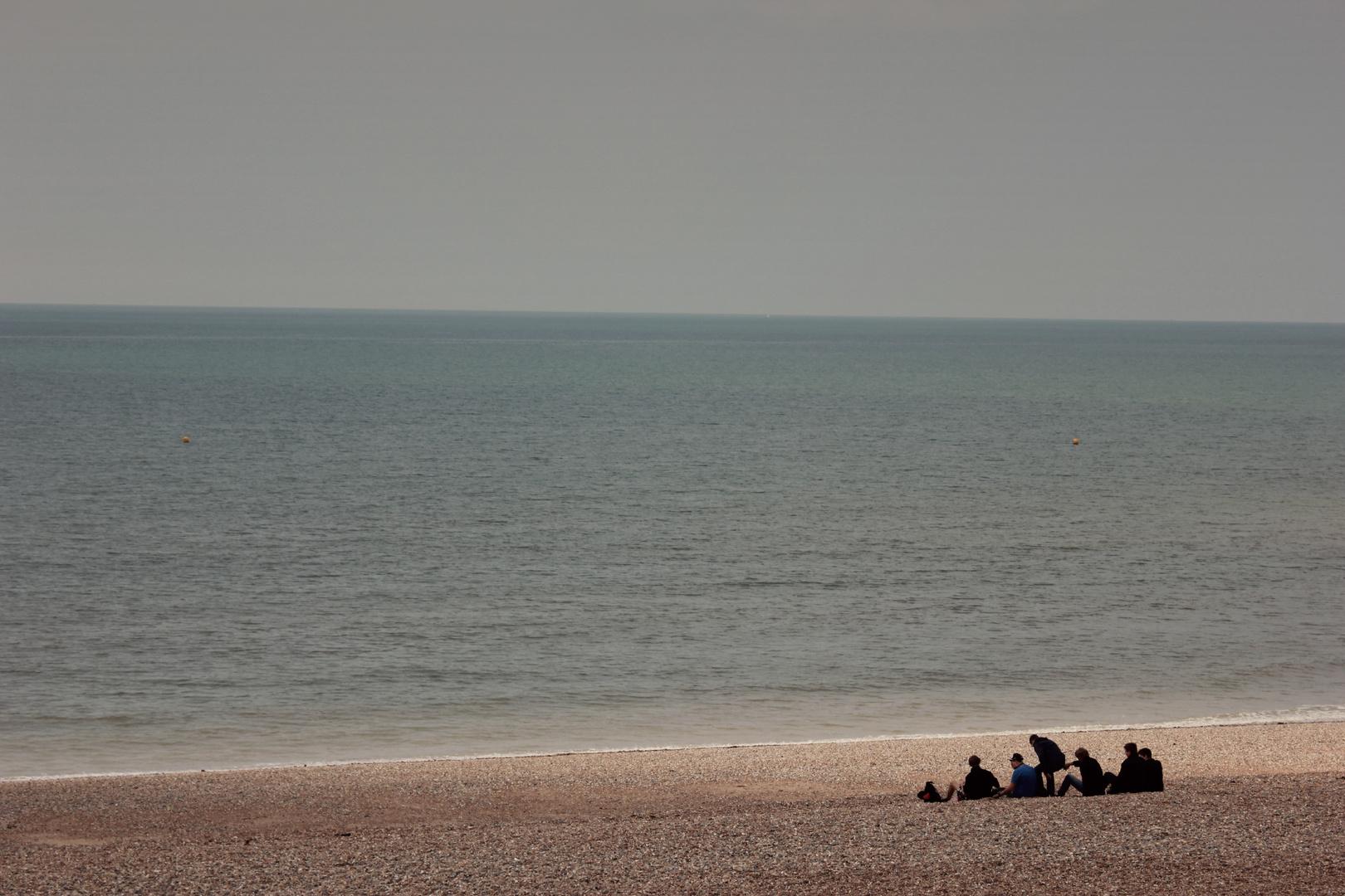 Gruppe am Strand
