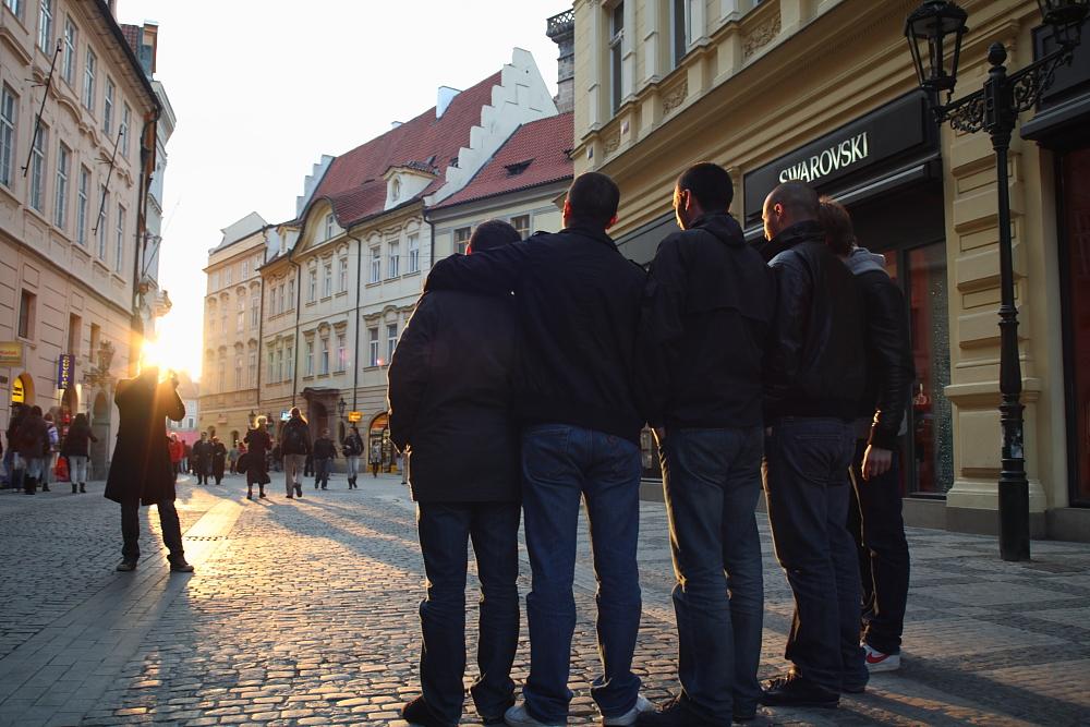 Gruppenfoto in der Abendsonne