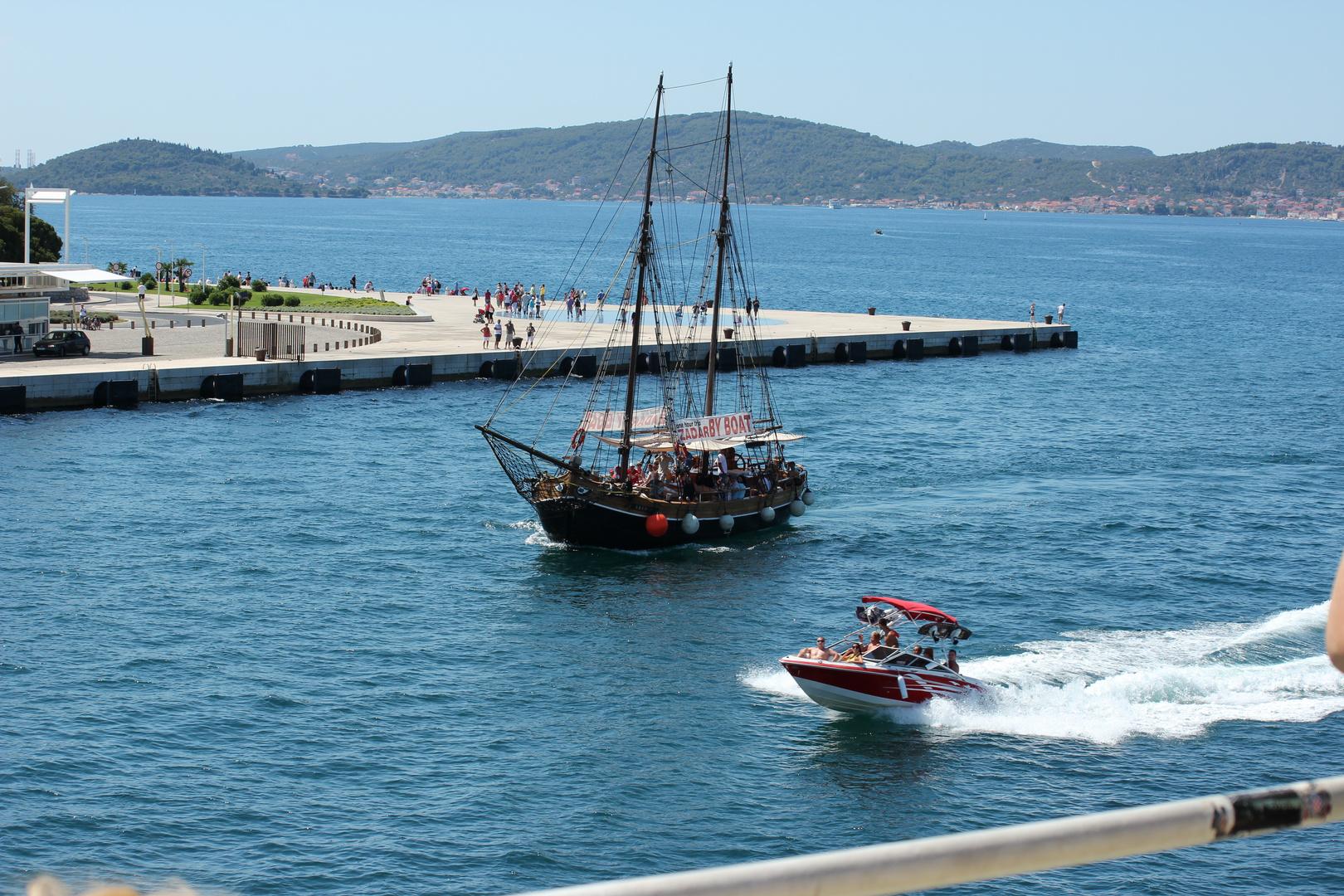 """""""Gruß an die Sonne"""" Istra Ufer in Zadar"""