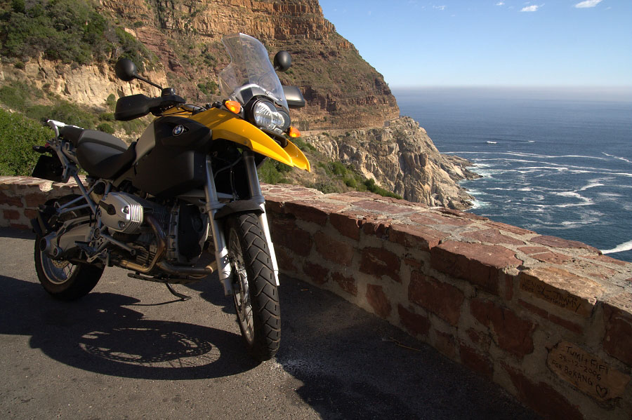 GS at Chapman's Peak Drive, South Africa