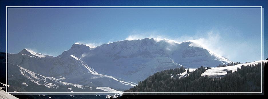 gstaad, schweiz - bergpanorama