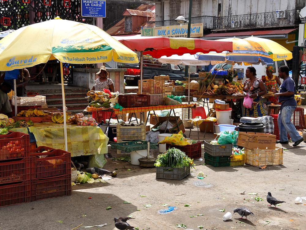 Guadeloupe Markttag