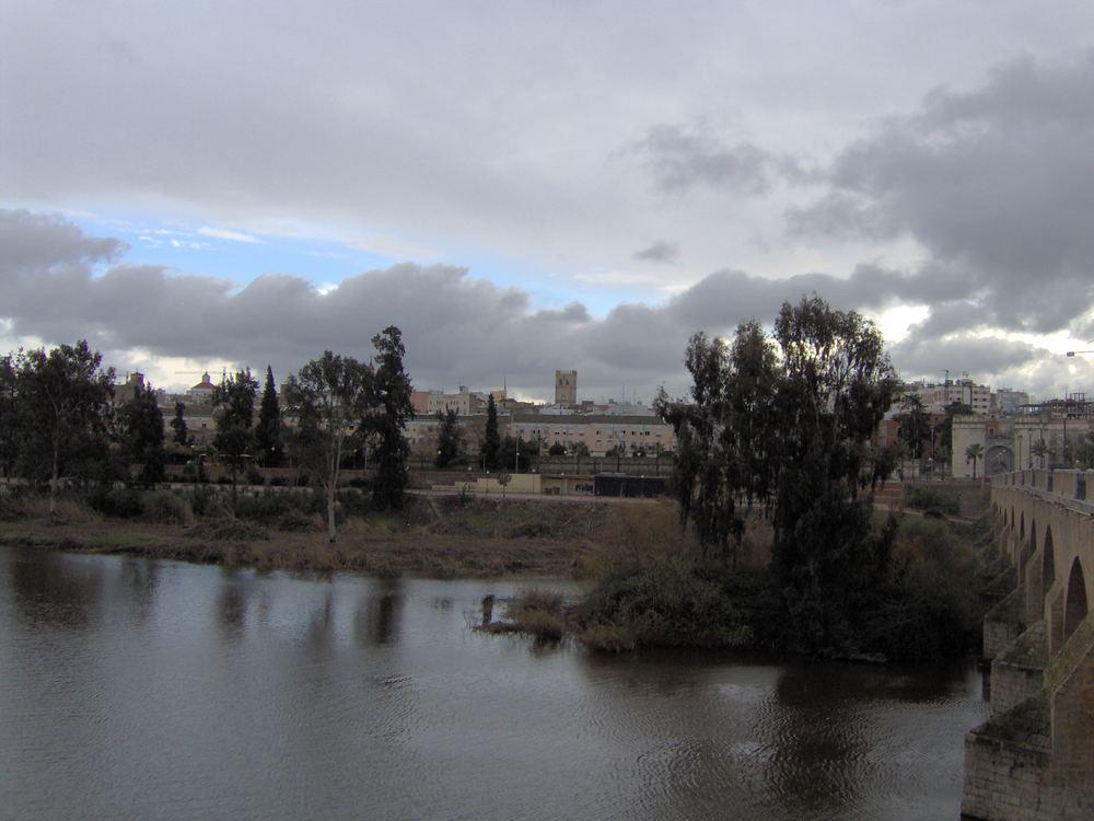 guadiana en eun dia nublado