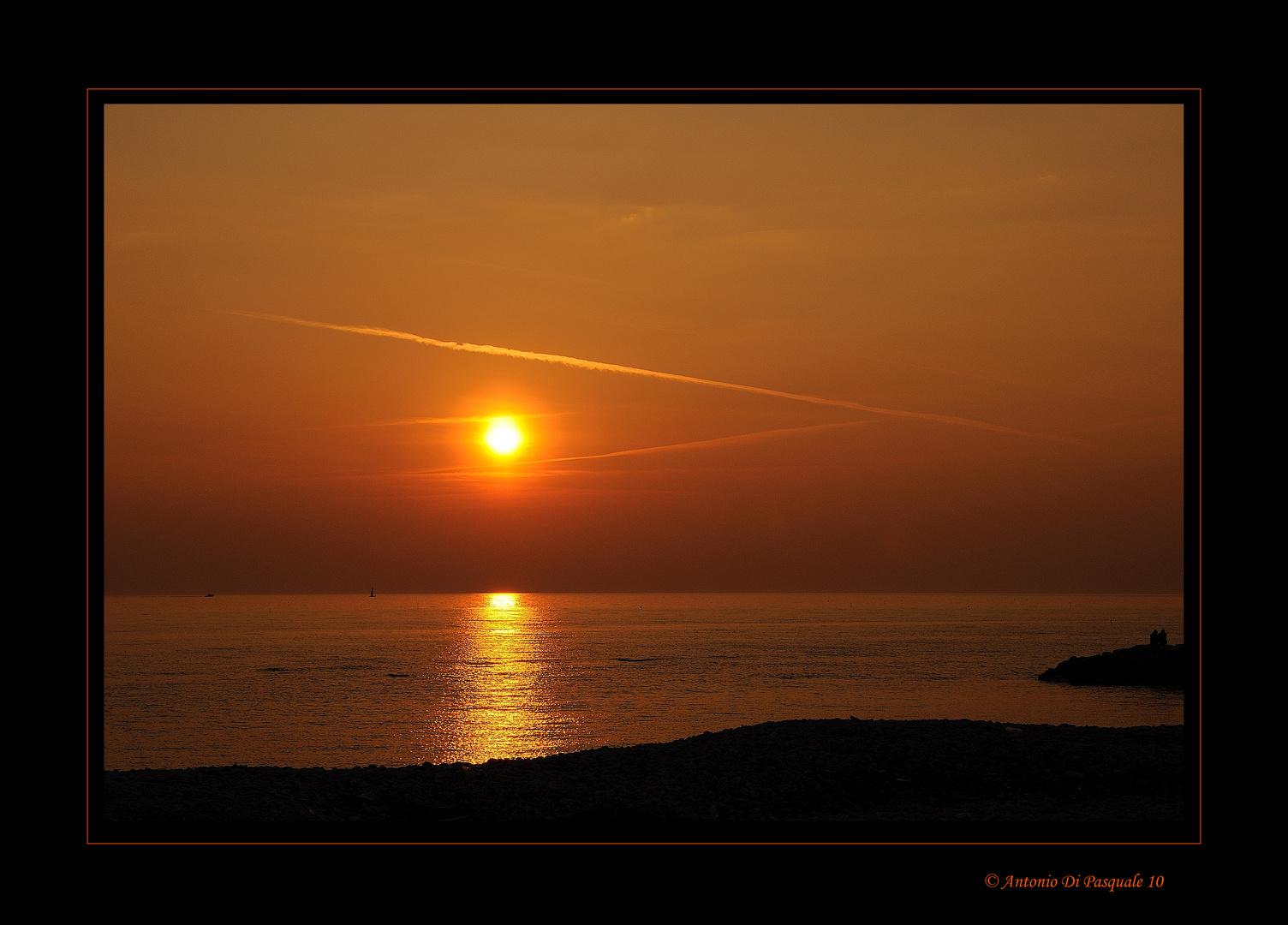 Guardando il tramonto