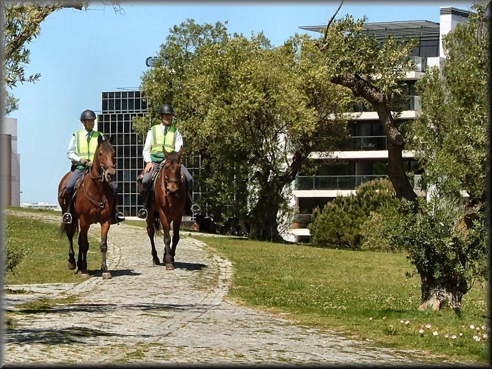 Guardia a cavallo a Lisbona.