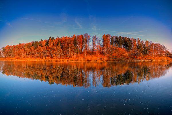 Gübsenweiher Herbst