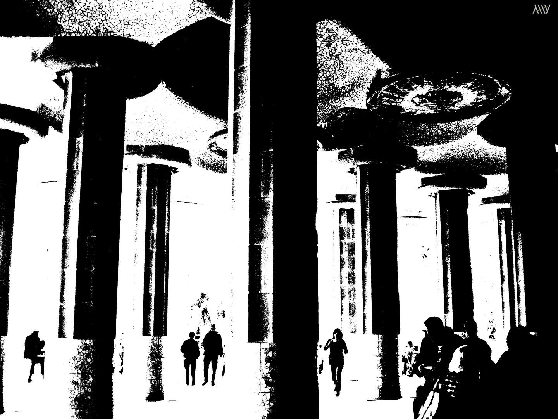 guell columnas
