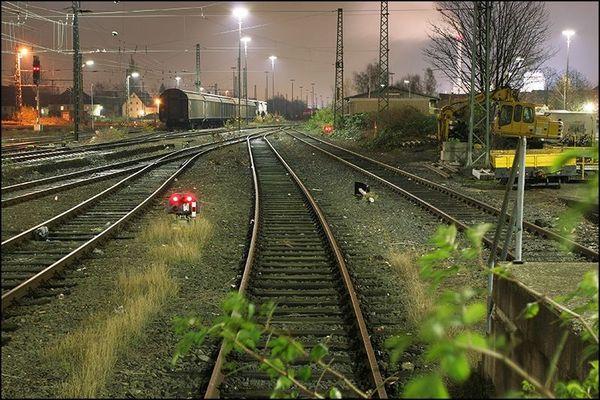 Güterbahnhof Long Exposure