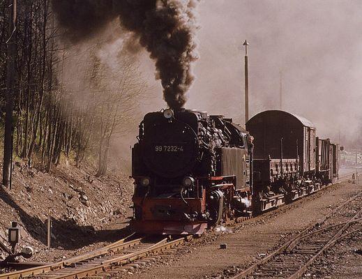 Güterzüge auf der Harzquer und Brockenbahn