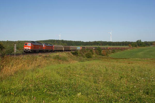 Güterzug bei Grobau