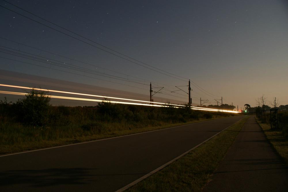 Güterzug bei Nacht