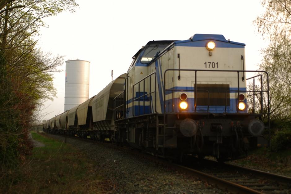 Güterzug im Emsland (FPA)