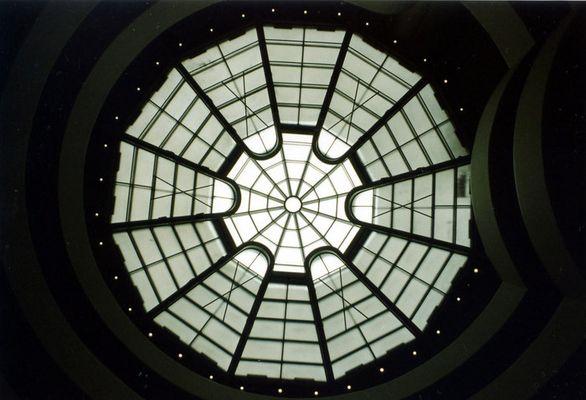 Guggenheimmuseum NYC-verdrehter Blick nach oben