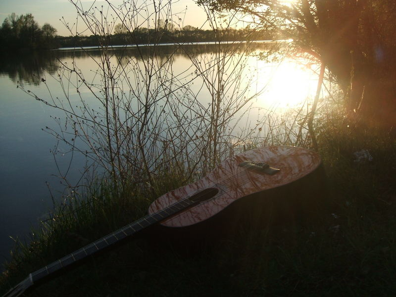 Guitar In The Sunset