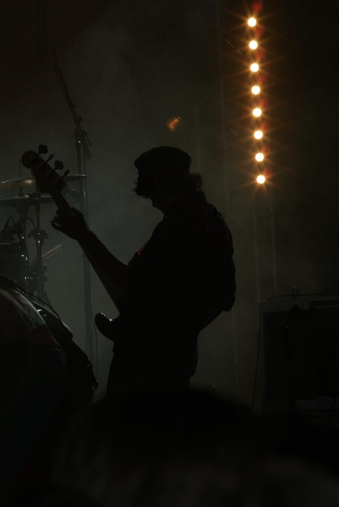 Guitariste en contre-jour