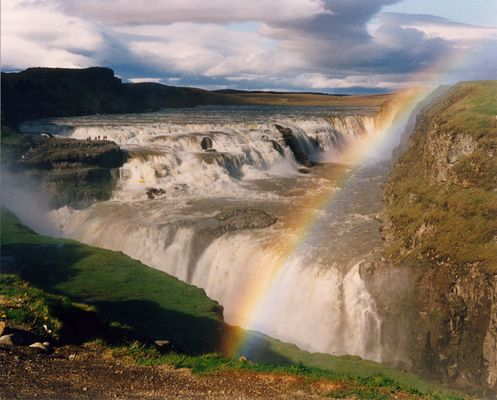 Gullfoss : magnifique chute d'eau islandaise