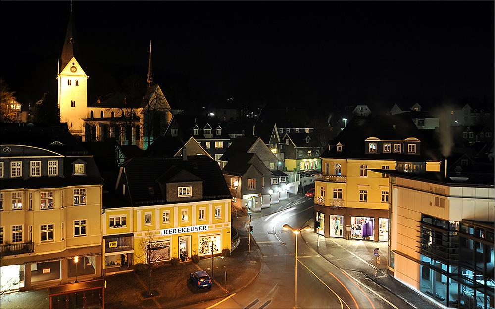 Gummersbach bei Nacht