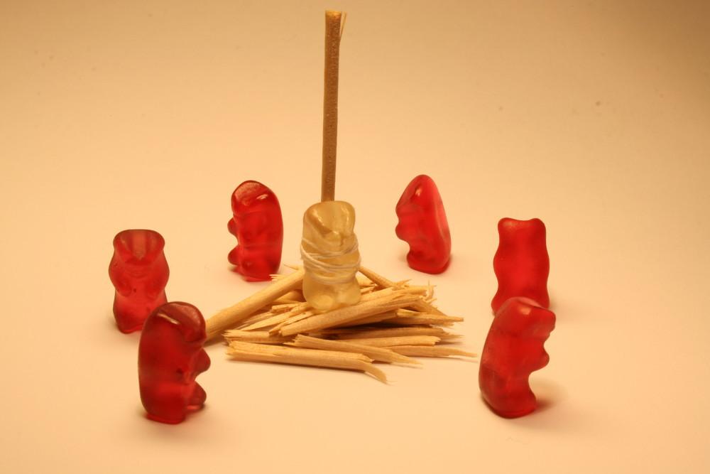 Gummibärchen Scheiterhaufen