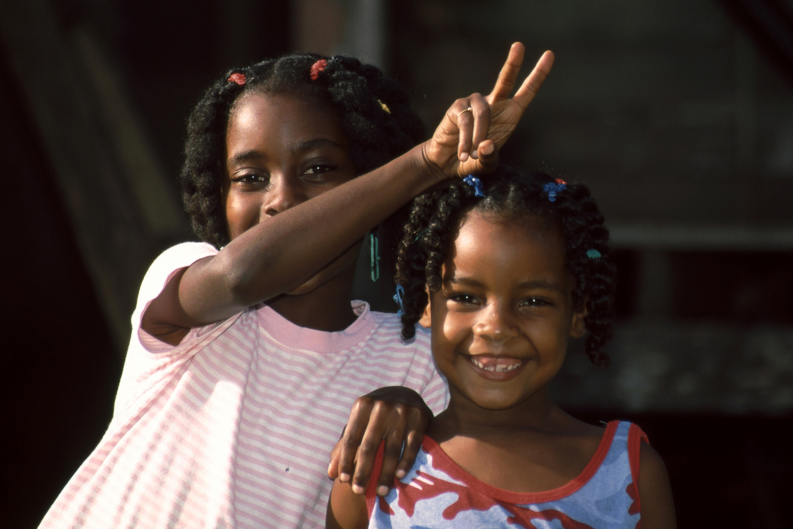 gut gelaunte Mädels in Panama