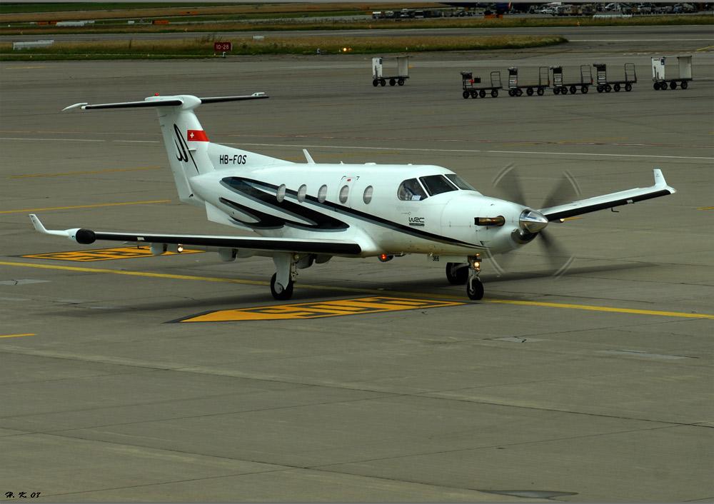 Gute Landung auf dem Flughafen Zürich.