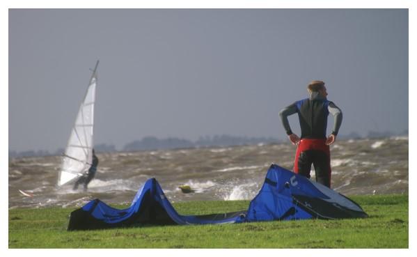 Guter Wind und kaltes Wasser sind genug da!