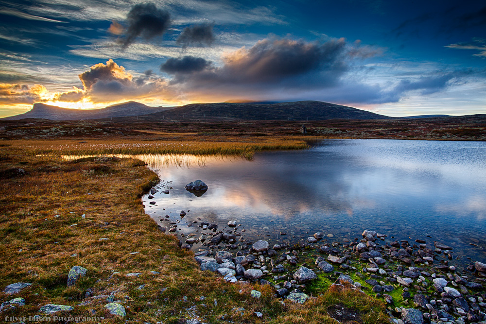 Gututjornet Sundown, Rondane, Norway