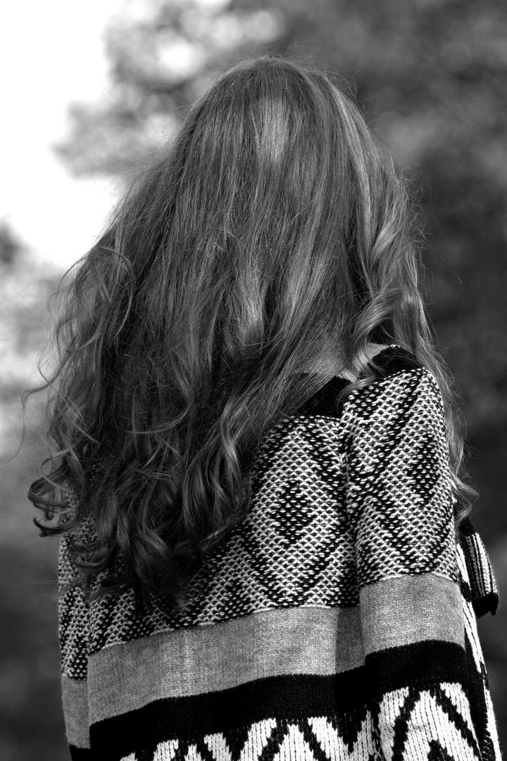 Haare eines Models