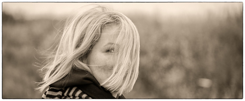 Haare im Sturm