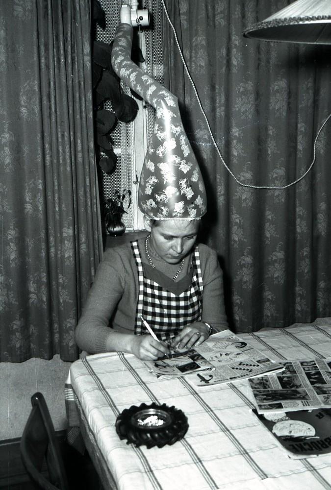 Haare trocknen 1956