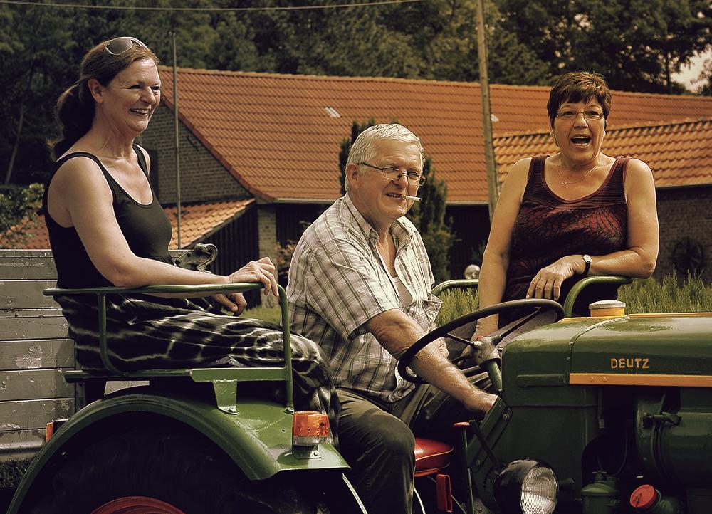 Hab' mein Traktor vollgeladen