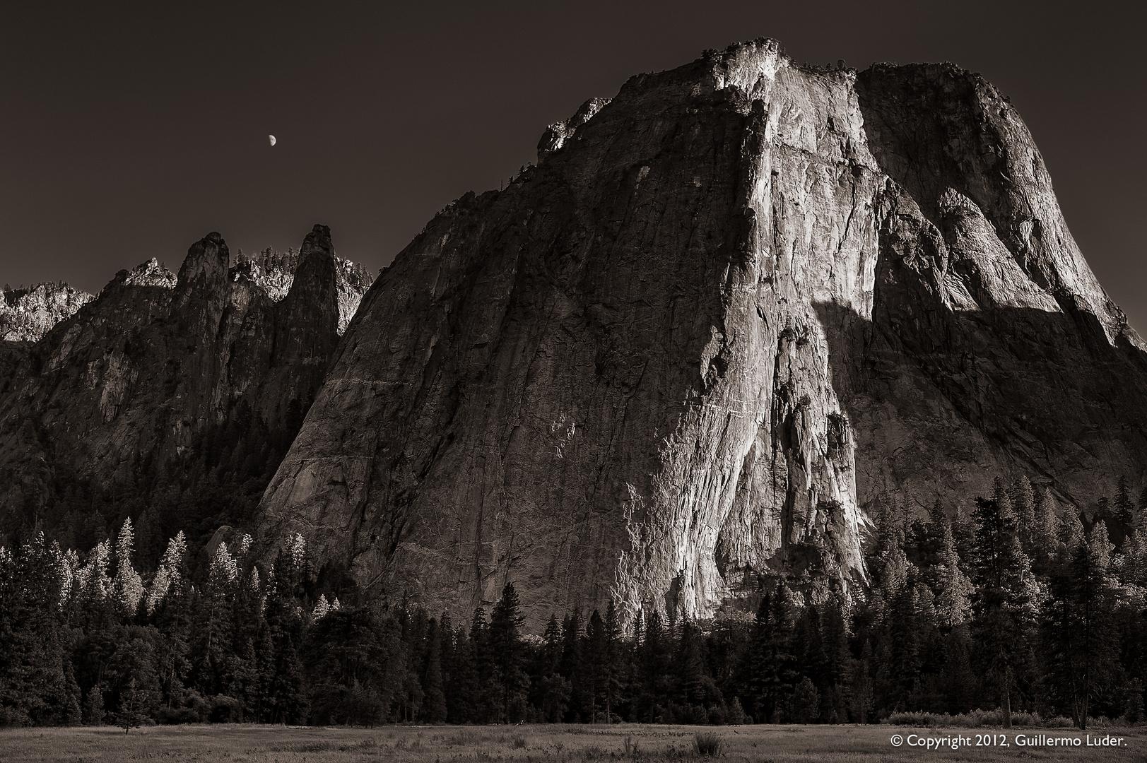 Hacia la noche en Yosemite