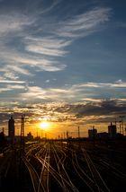 Hackerbrücke München - Sonnenuntergang