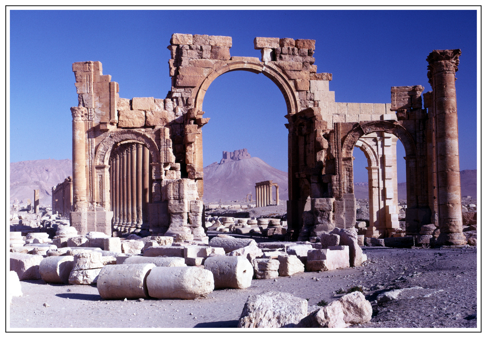 Hadrianstor in Palmyra (Syrien).