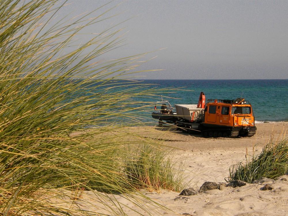 Hägglund am Strand