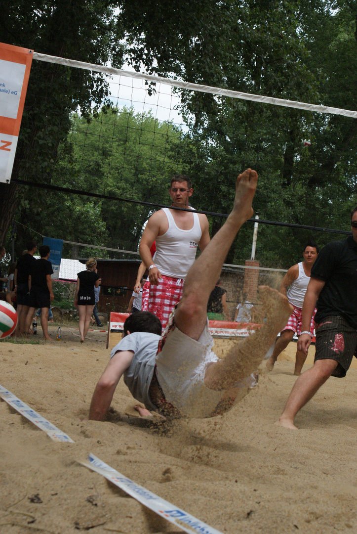 Hände in den Sand und Füße hoch....