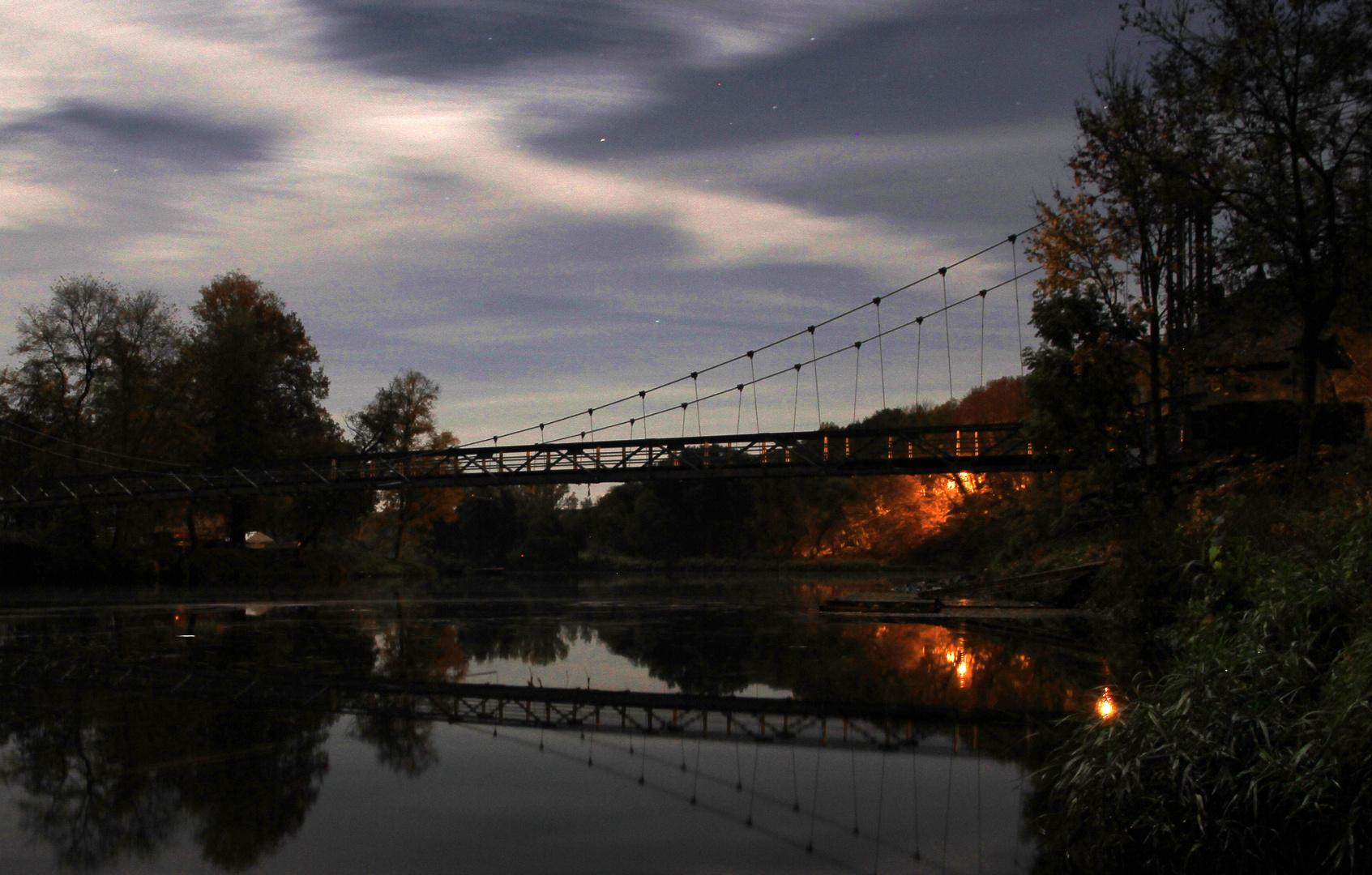 Hängebrücke an der Mulde