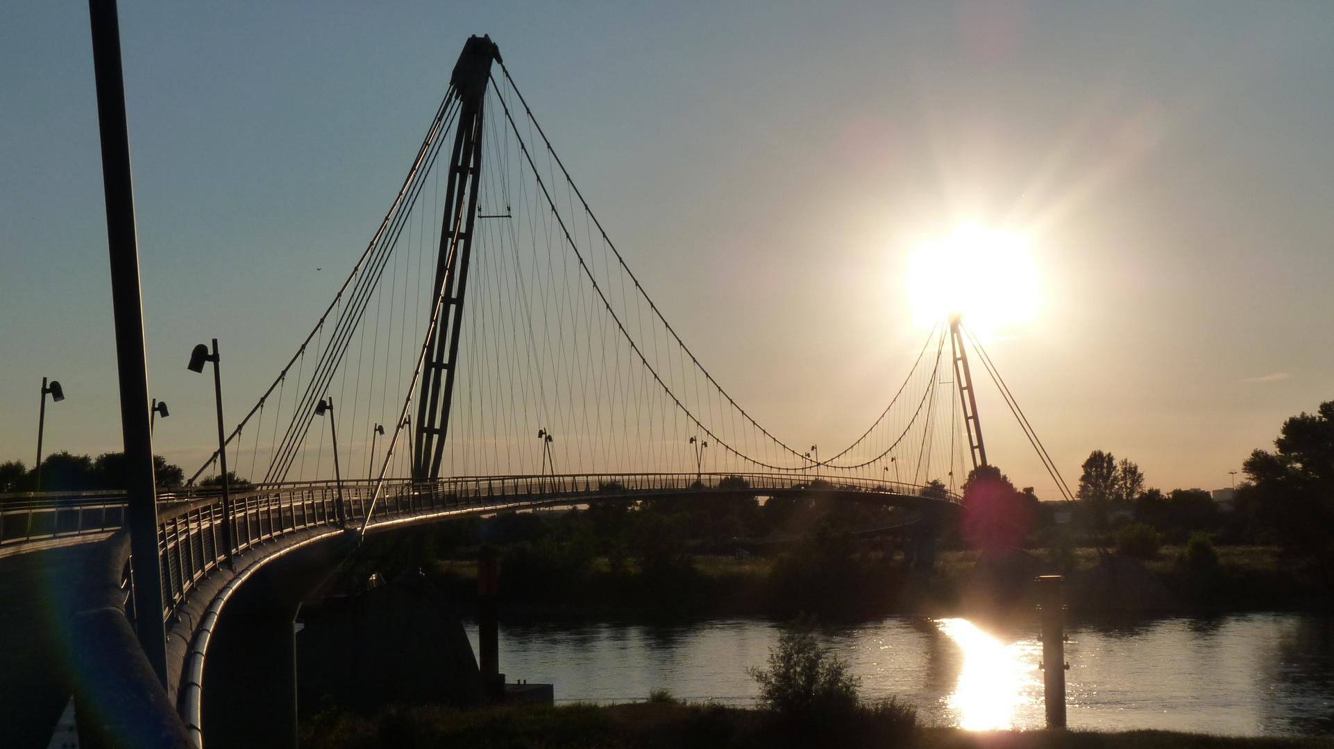 Hängebrücke in Magdeburg