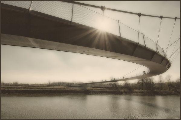 Hängebrücke über den Rhein-Herne-Kanal