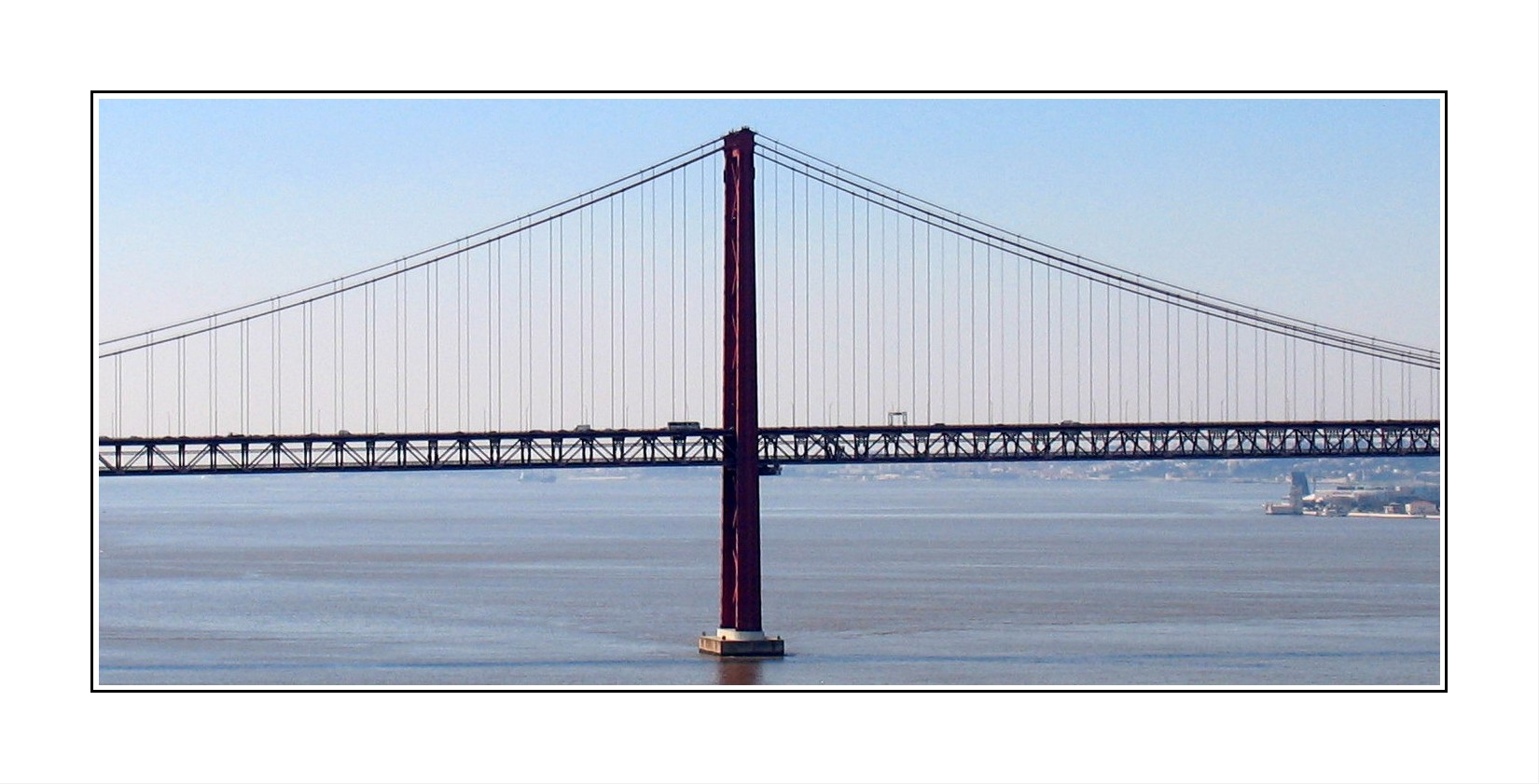 Hängebrücke über den Tejo.