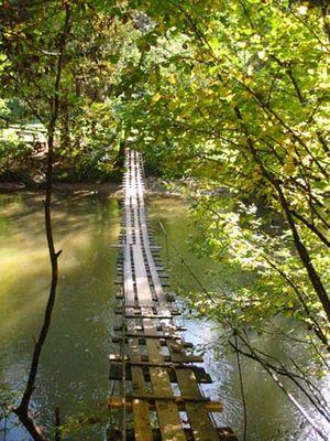 Hängebrücke über die Wertach