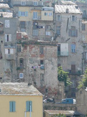 Häuser am Hafen, Bastia/Korsika