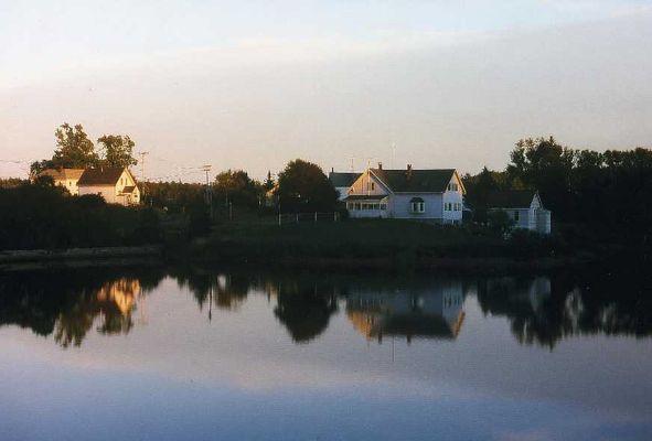 Häuser am See,