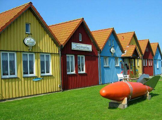 Häuser am Seehafen